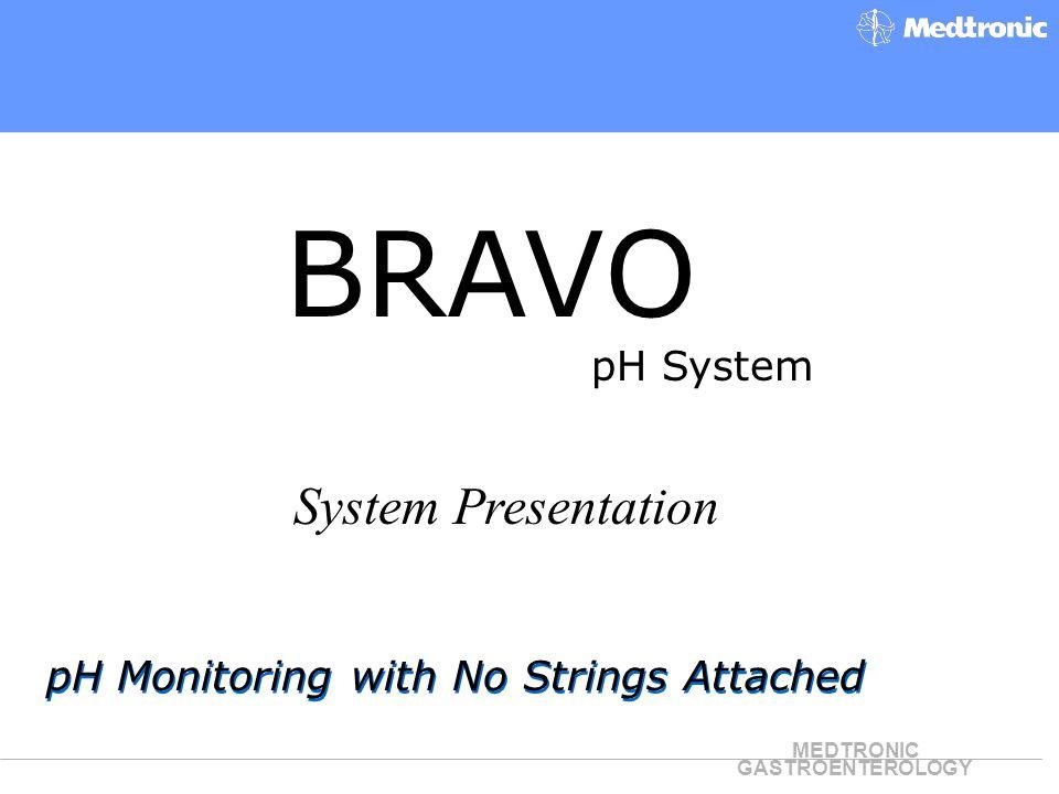 BRAVO System Presentation pH System
