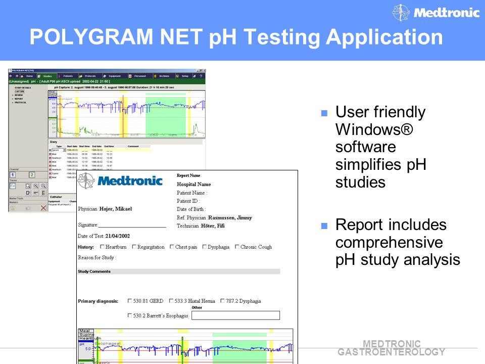 POLYGRAM NET pH Testing Application