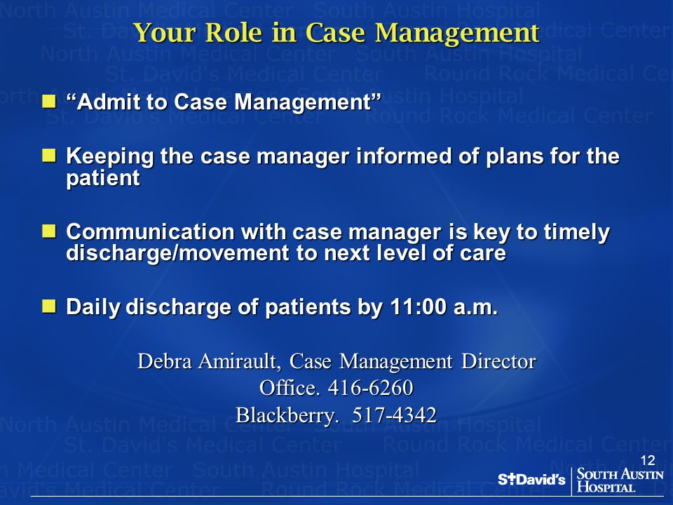 Your Role in Case Management