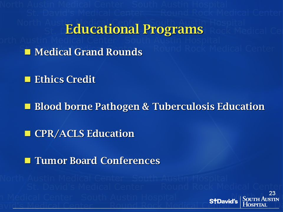 Educational Programs Medical Grand Rounds Ethics Credit