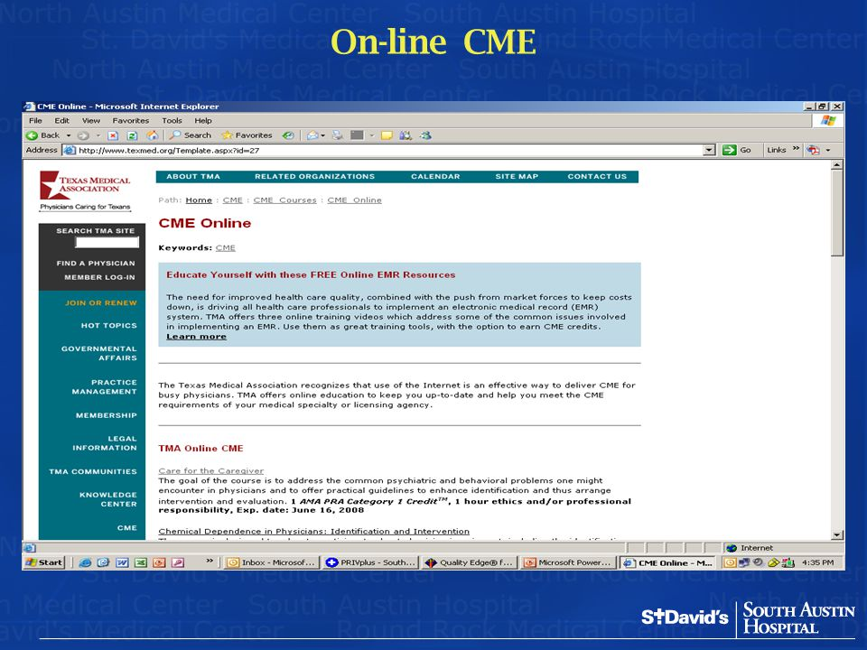On-line CME