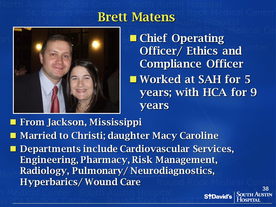Brett Matens Chief Operating Officer/ Ethics and Compliance Officer