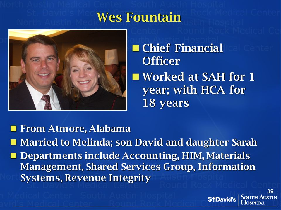 Wes Fountain Chief Financial Officer