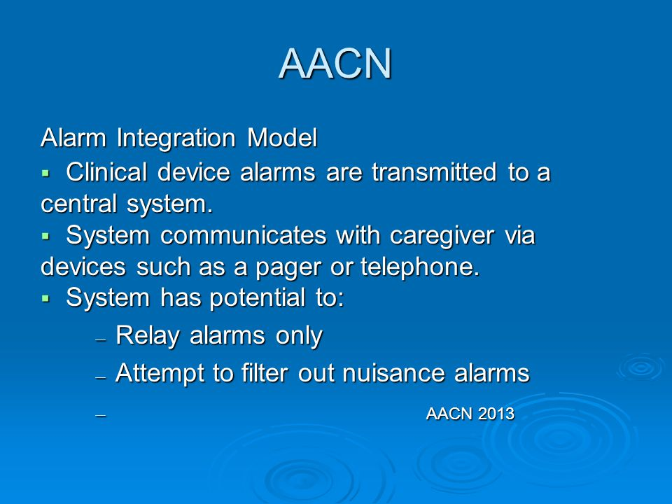 AACN Alarm Integration Model
