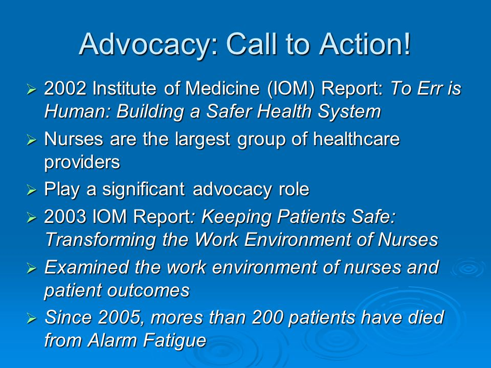 Advocacy: Call to Action!