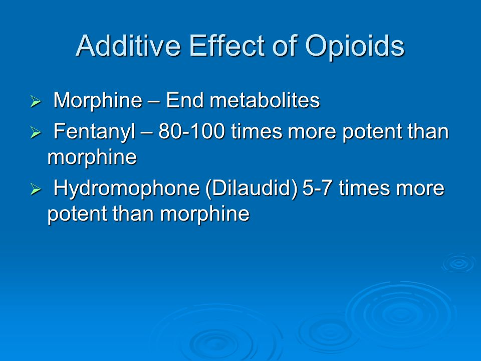 Additive Effect of Opioids