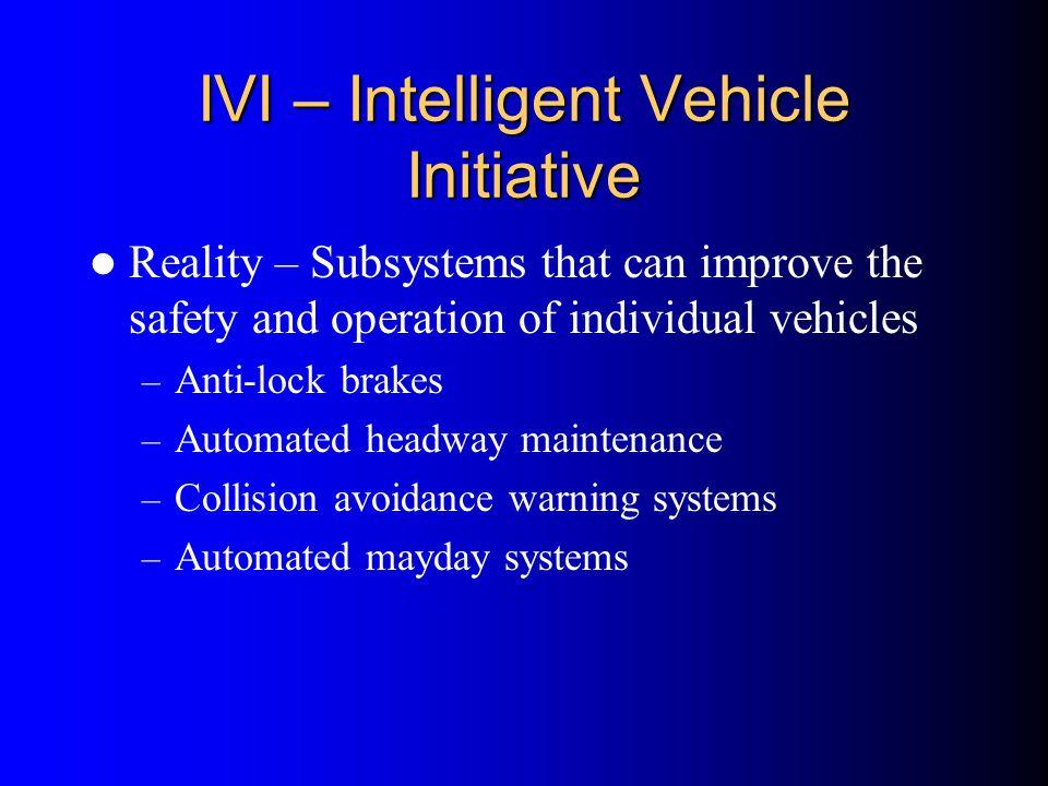 IVI – Intelligent Vehicle Initiative