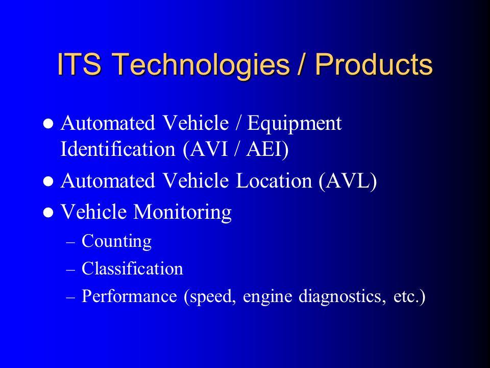 ITS Technologies / Products