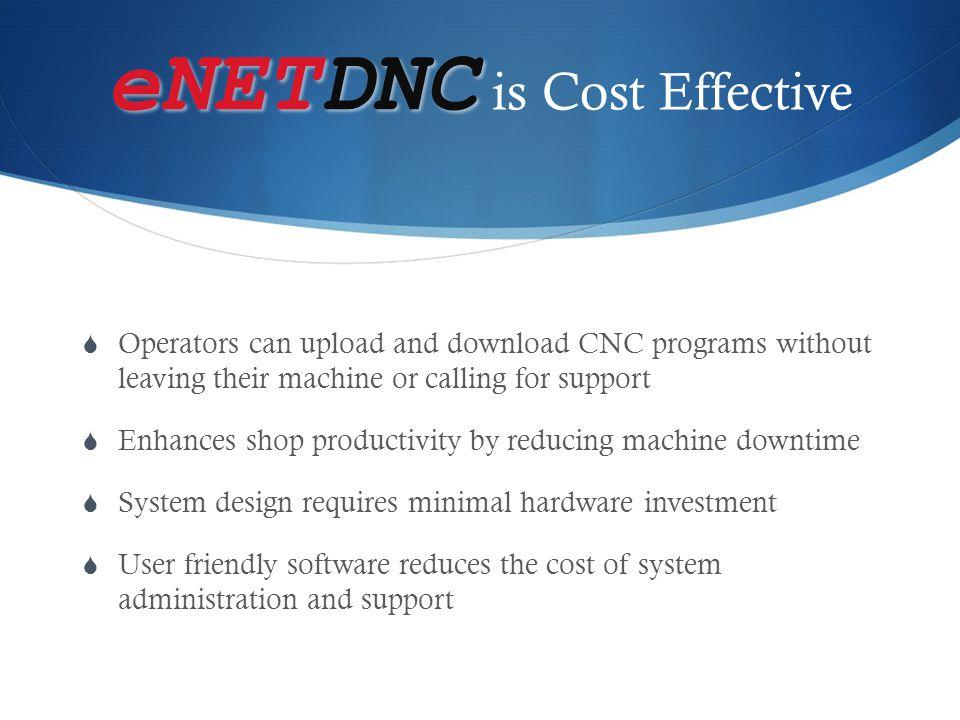 eNETDNC is Cost Effective