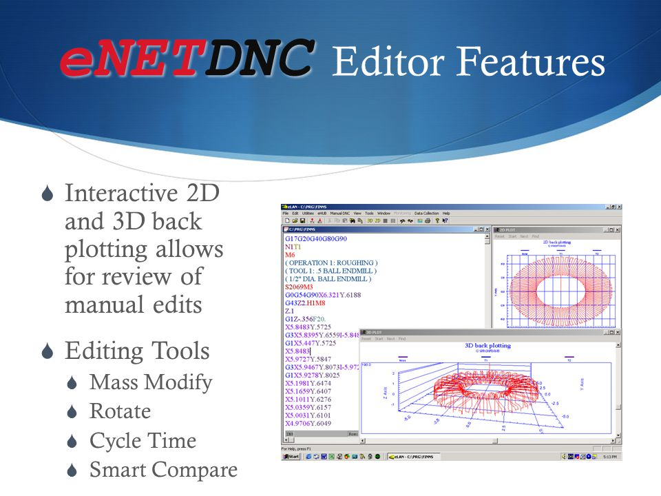 eNETDNC Editor Features