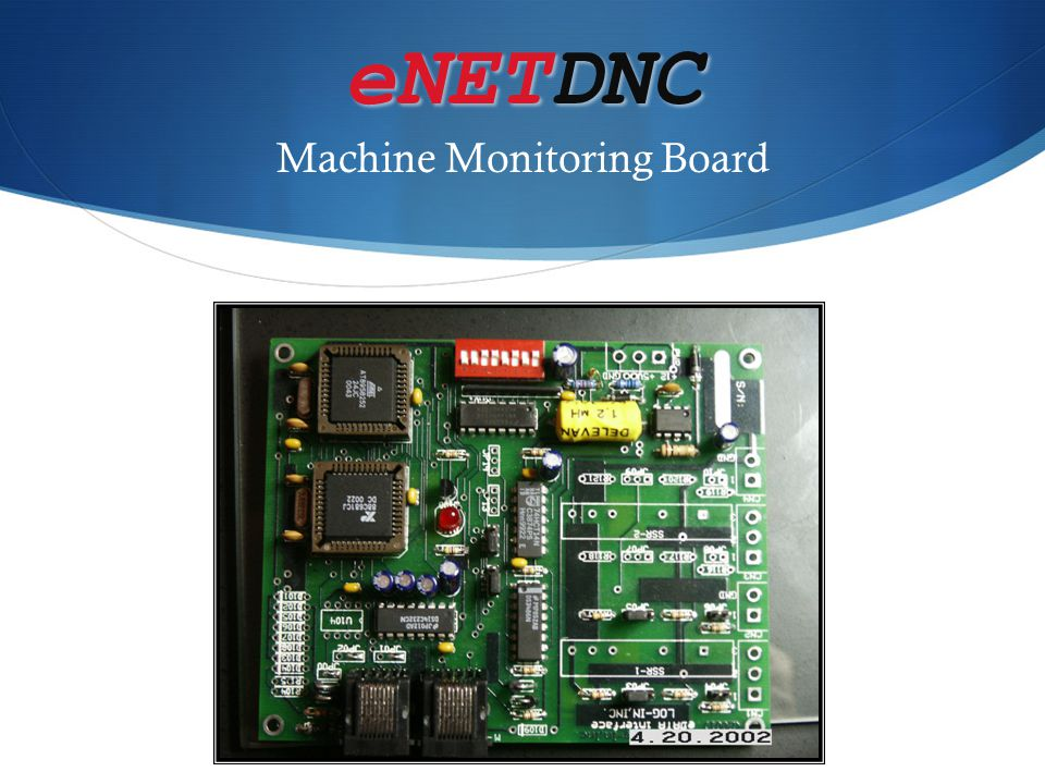 eNETDNC Machine Monitoring Board