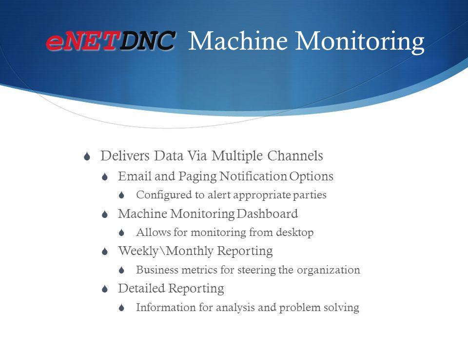 eNETDNC Machine Monitoring