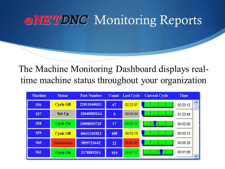eNETDNC Monitoring Reports