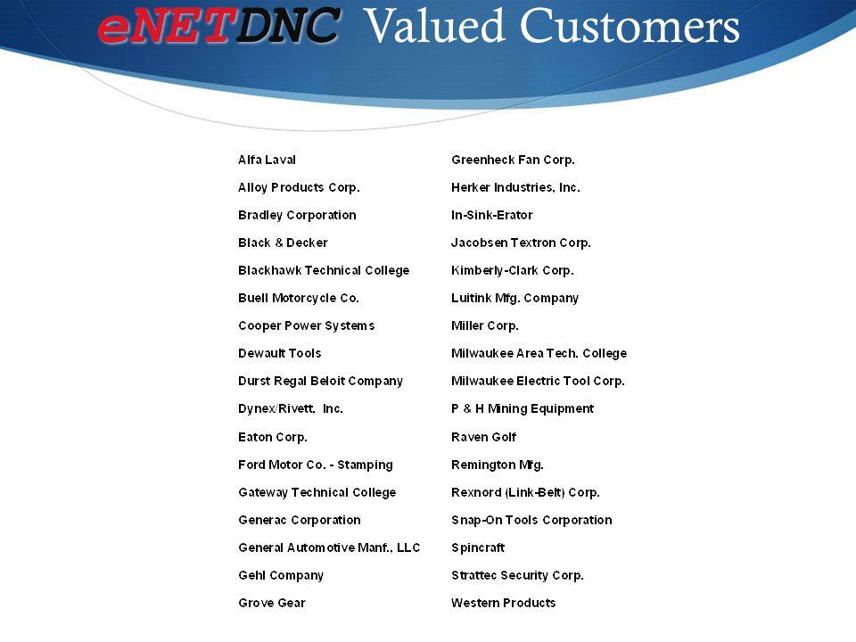 eNETDNC Valued Customers