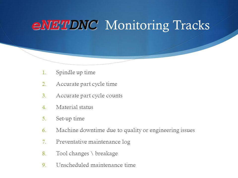 eNETDNC Monitoring Tracks