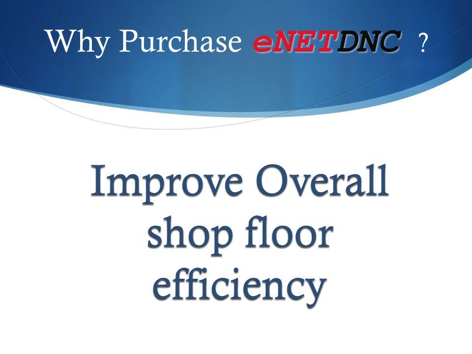 Improve Overall shop floor efficiency