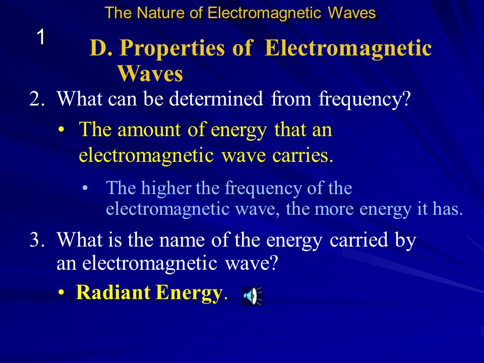 D. Properties of Electromagnetic Waves