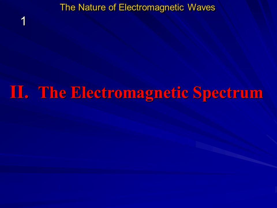 II. The Electromagnetic Spectrum