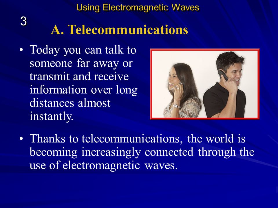 Using Electromagnetic Waves