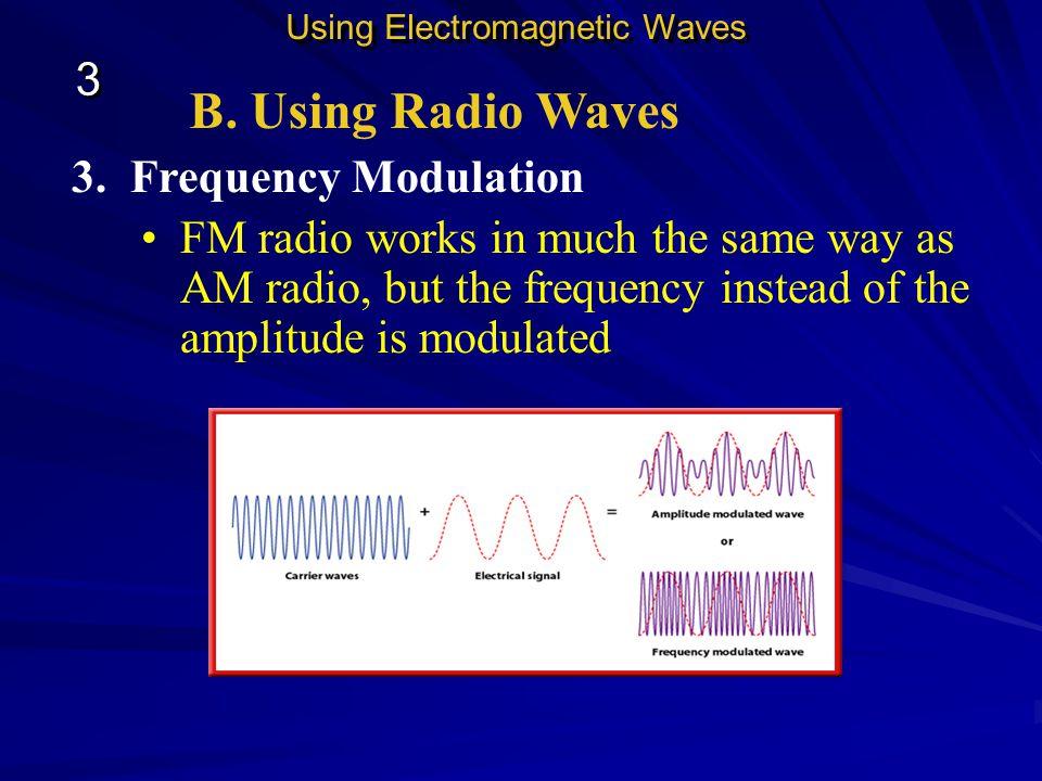 B. Using Radio Waves 3 3. Frequency Modulation