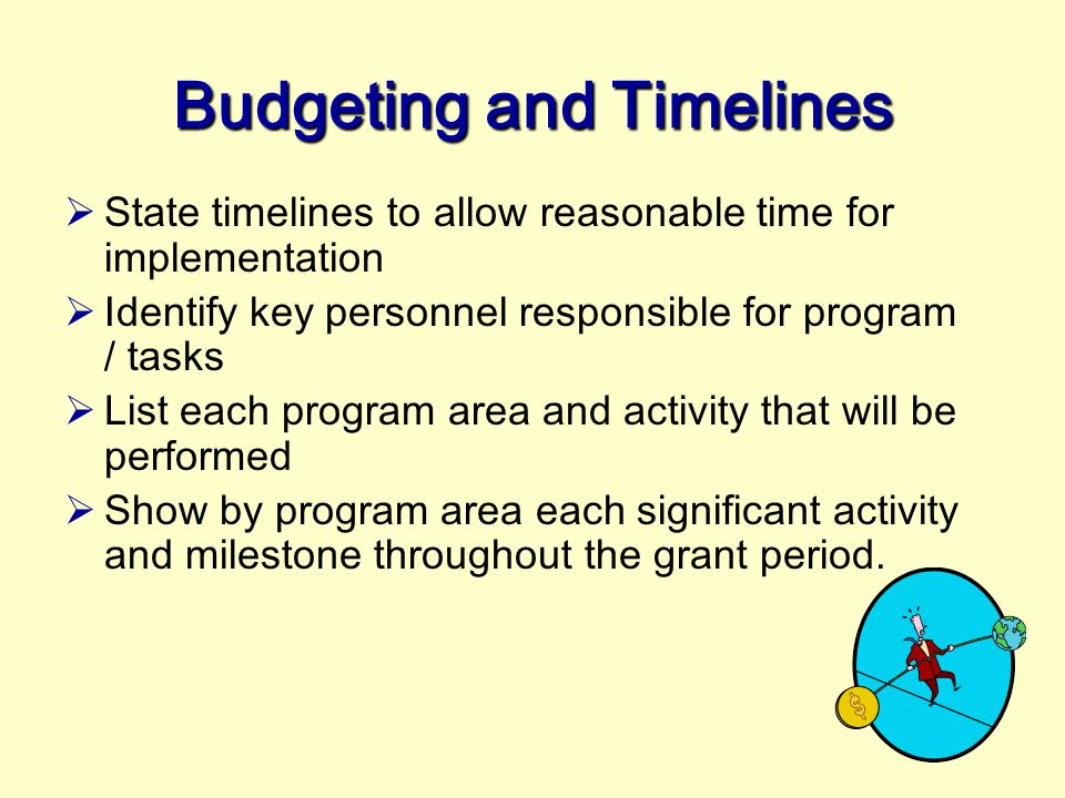 Budgeting and Timelines