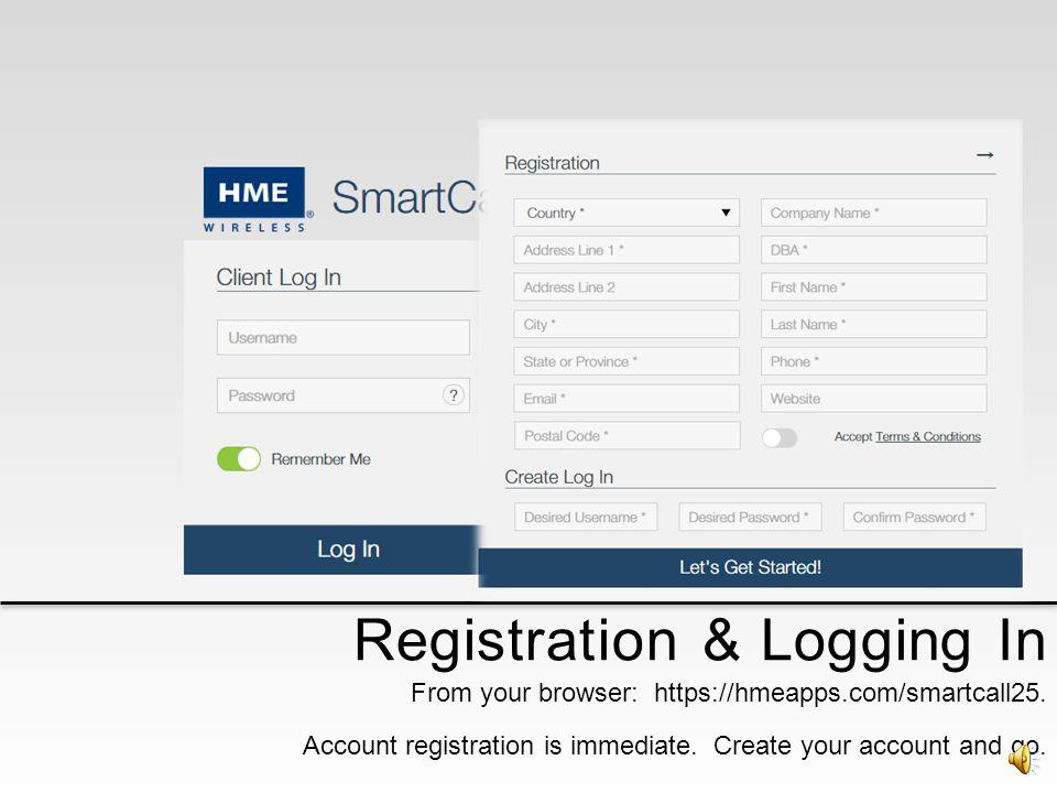 Registration & Logging In