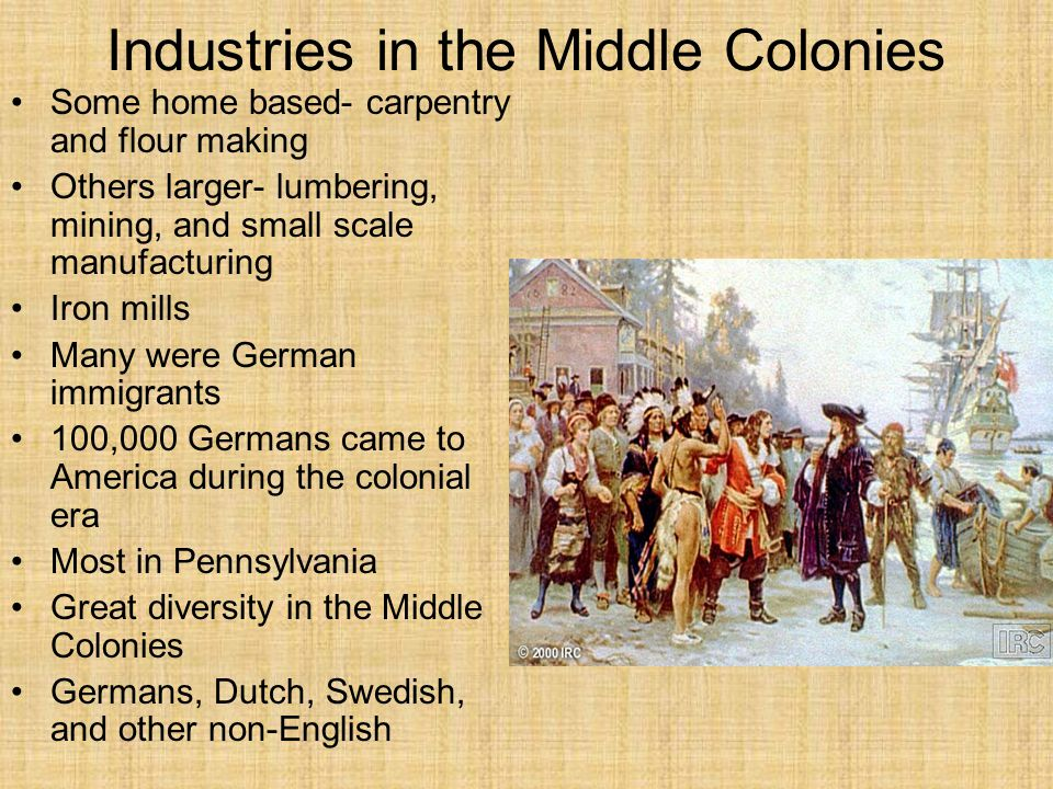 Industries in the Middle Colonies