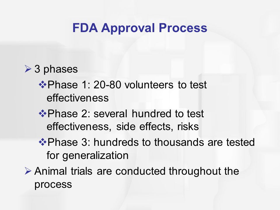 FDA Approval Process 3 phases