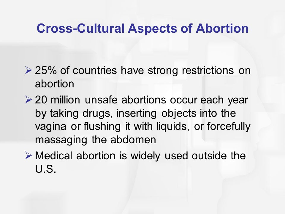 Cross-Cultural Aspects of Abortion