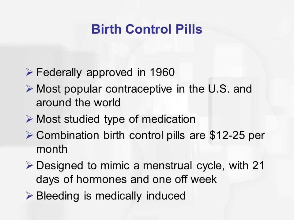 Birth Control Pills Federally approved in 1960