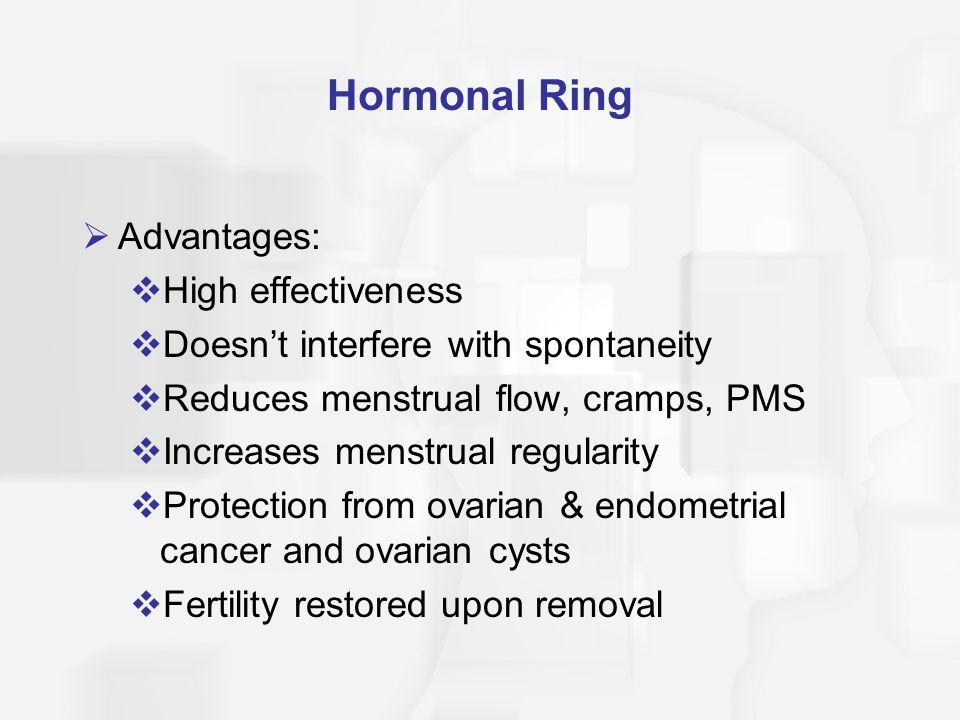 Hormonal Ring Advantages: High effectiveness