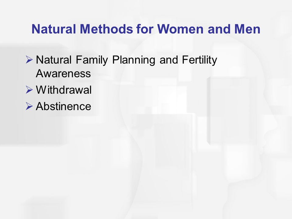 Natural Methods for Women and Men