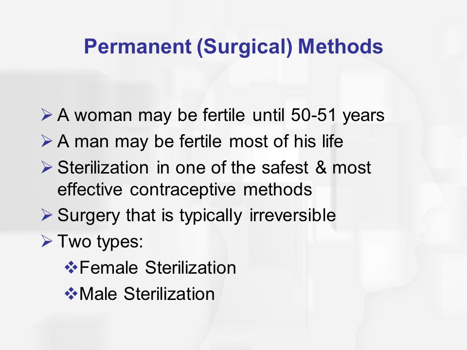 Permanent (Surgical) Methods