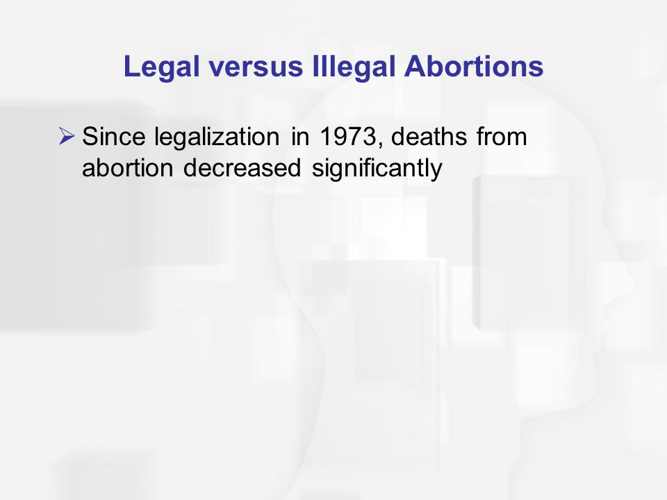 Legal versus Illegal Abortions