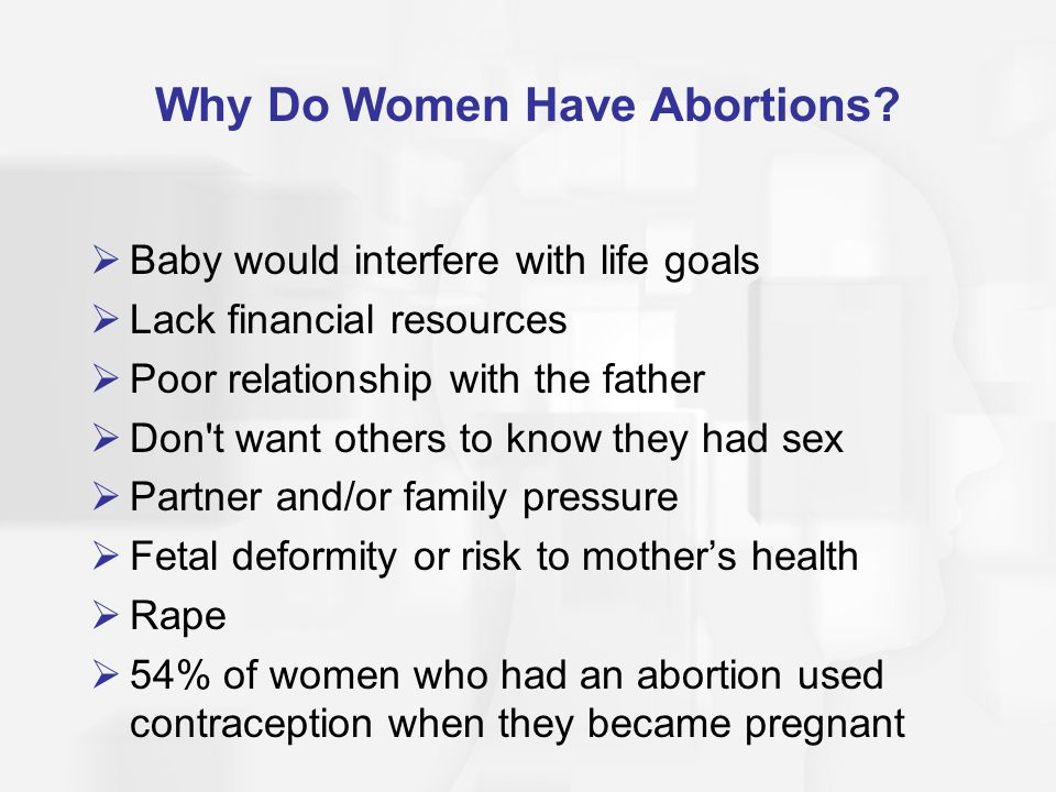 Why Do Women Have Abortions
