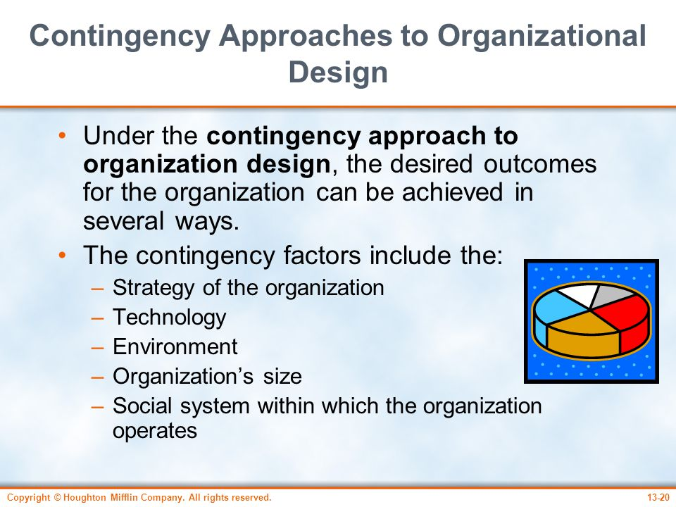 Contingency Approaches to Organizational Design