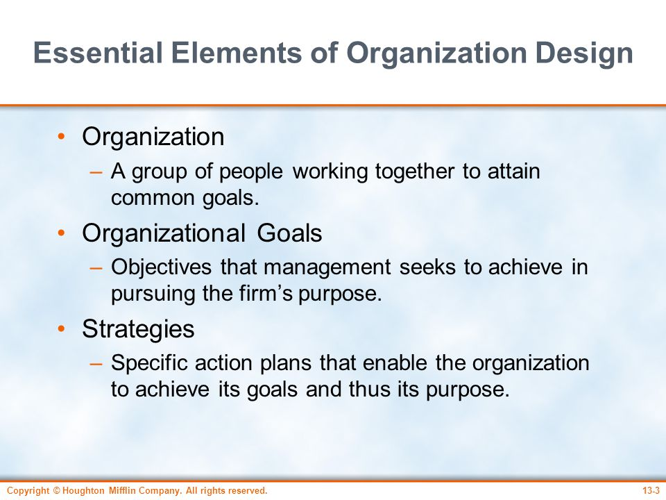 Essential Elements of Organization Design