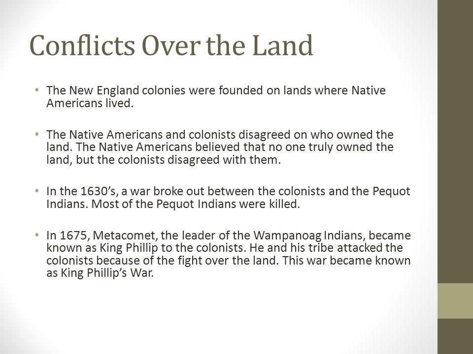 Conflicts Over the Land