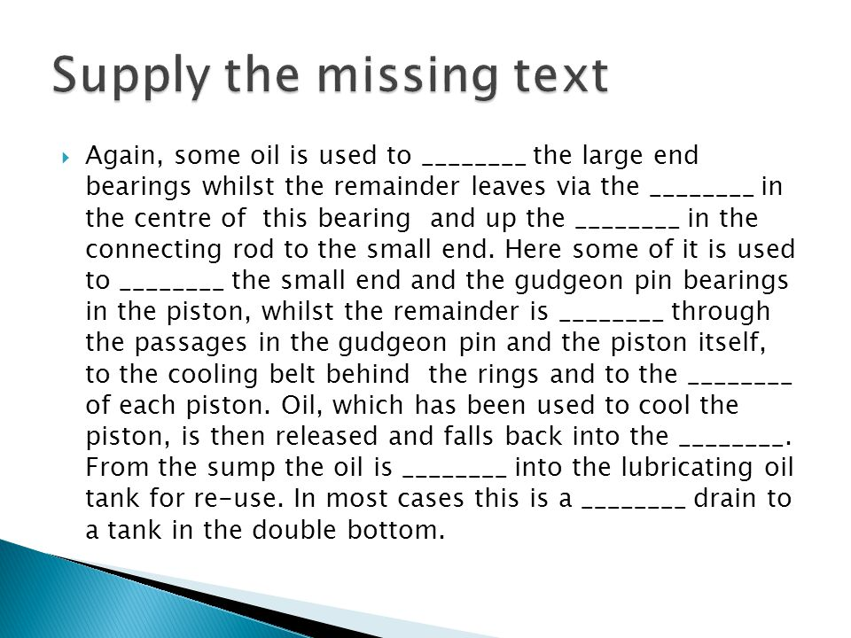 Supply the missing text
