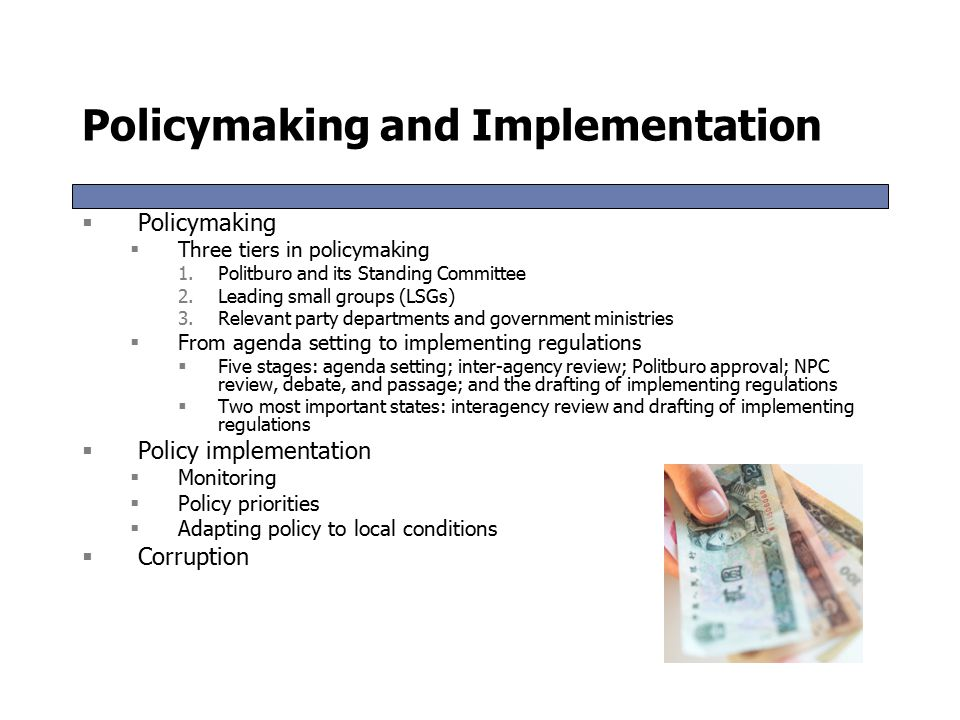 Policymaking and Implementation