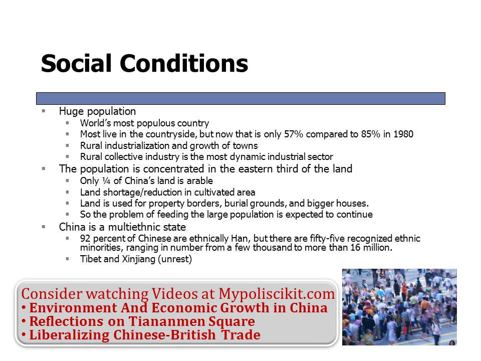 Social Conditions Consider watching Videos at Mypoliscikit.com
