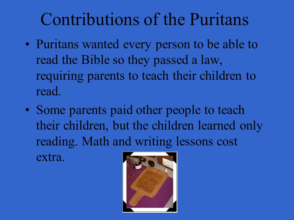 Contributions of the Puritans