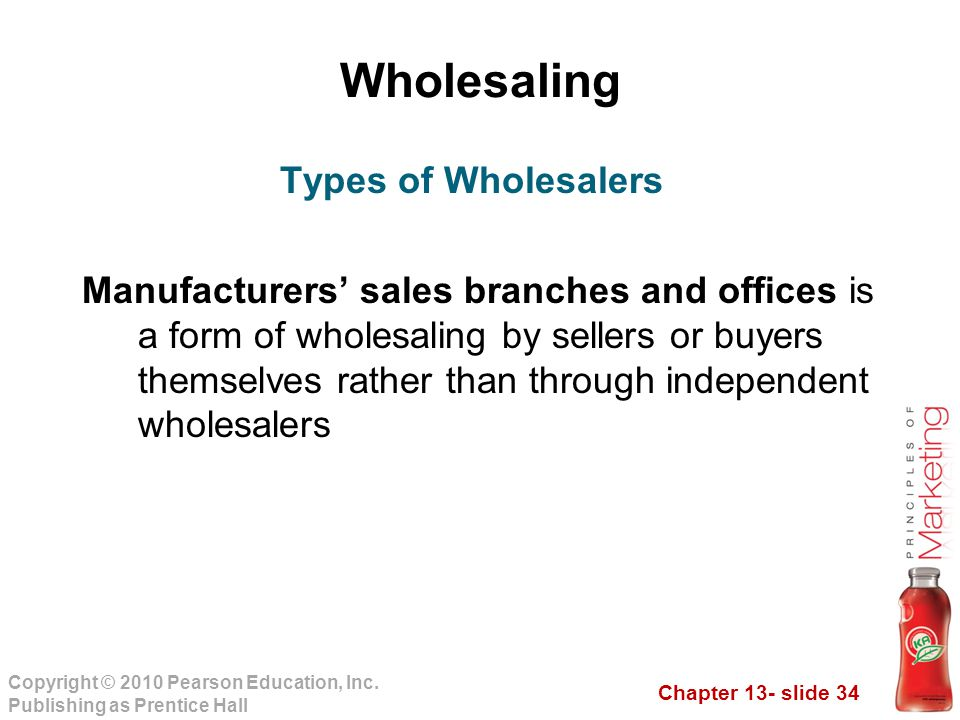 Wholesaling Types of Wholesalers
