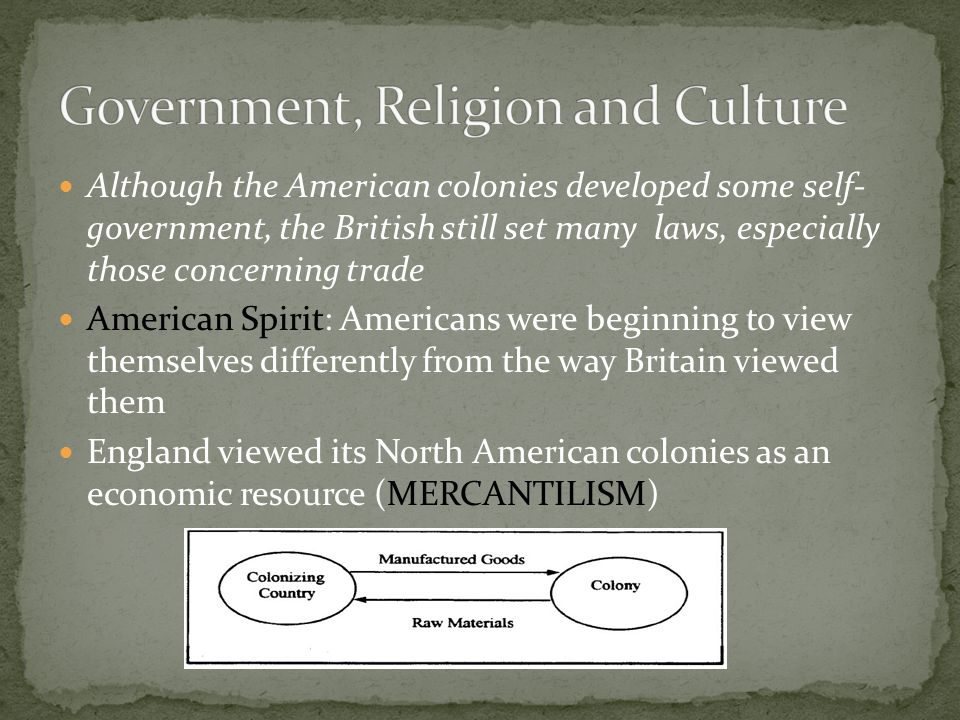 Government, Religion and Culture