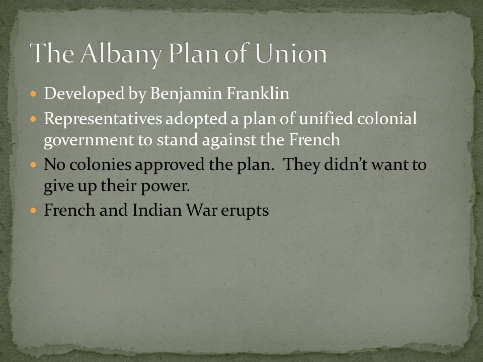 The Albany Plan of Union