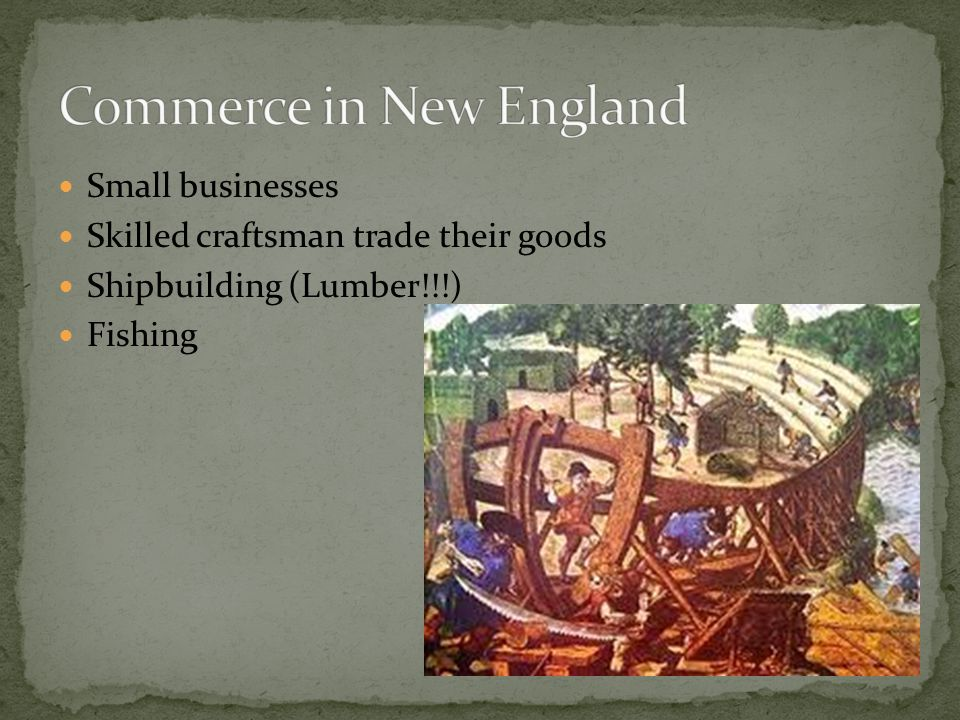 Commerce in New England