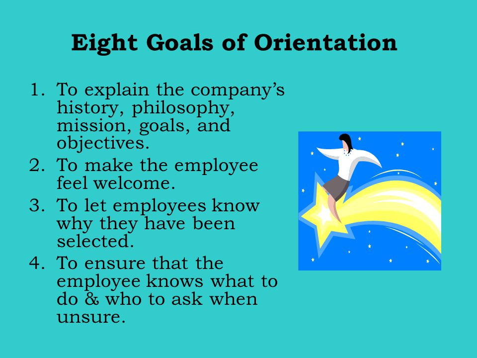 Eight Goals of Orientation