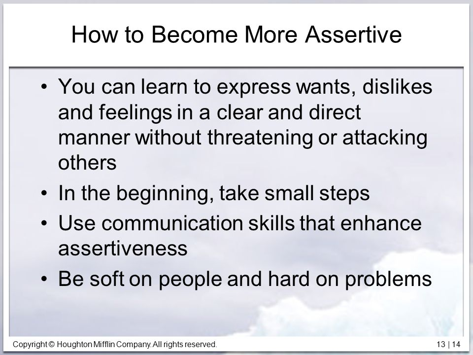 How to Become More Assertive