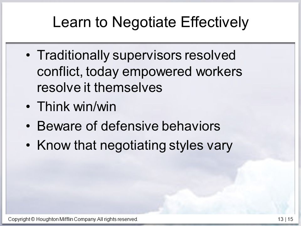 Learn to Negotiate Effectively