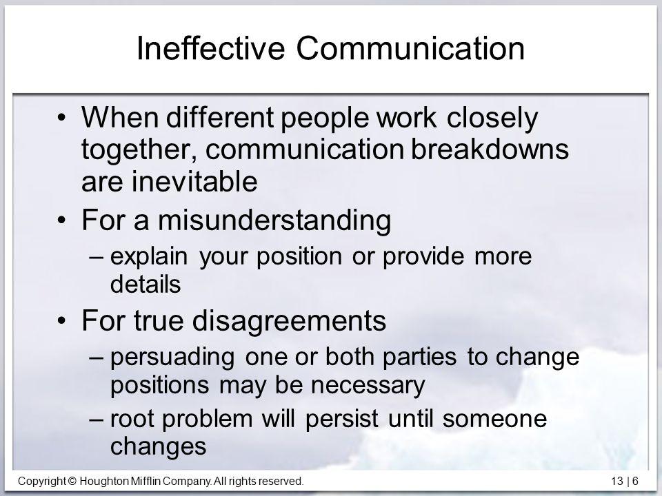 Ineffective Communication